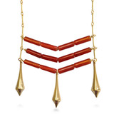"Egyptian ""Teti"" Necklace, carnelian, 30"" - Museum Shop Collection - Museum Company Photo"