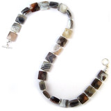 Square Agate Necklace - Museum Shop Collection - Museum Company Photo