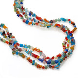 Mosaic Glass Chip Triple Strand Necklace - Museum Shop Collection - Museum Company Photo