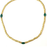 Pre-Columbian Gold with Emerald Necklace - Museum Shop Collection - Museum Company Photo