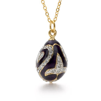 Diamond Fleur de Lys Egg Pendant - Museum Shop Collection - Museum Company Photo