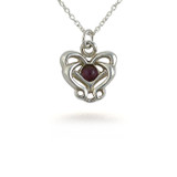 Art Nouveau Knot Pendant with Amethyst, s/s - Museum Shop Collection - Museum Company Photo