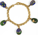 Faberge inspired 5 Egg charm bracelet - Museum Shop Collection - Museum Company Photo