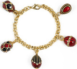 Faberge inspired Five Egg charm bracelet - Museum Shop Collection - Museum Company Photo