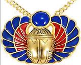 Scarab Amulet pin/pendant, Lapis - Museum Shop Collection - Museum Company Photo
