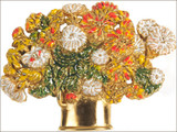 """Renoir """"Chrysanthemums"""" brooch - Museum Shop Collection - Museum Company Photo"""