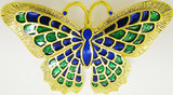 Butterfly brooch, blue/green - Museum Shop Collection - Museum Company Photo
