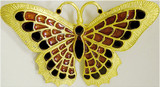 Butterfly brooch, cinnabar/black - Museum Shop Collection - Museum Company Photo