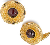 Byzantine cufflinks with Garnet, elegant cufflink backs - Museum Shop Collection - Museum Company Photo