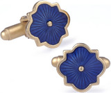 Clove blue enameled cufflinks - Museum Shop Collection - Museum Company Photo