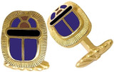 Egyptian enameled Scarab cufflinks, elegant cufflink backs - Museum Shop Collection - Museum Company Photo