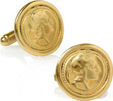 Greek - Athena coin cufflinks - Museum Shop Collection - Museum Company Photo