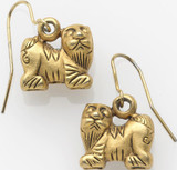 Chinese Foo dog 3-dimension earrings - Museum Shop Collection - Museum Company Photo