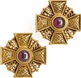 Russian Cross earrings, Garnet - Museum Shop Collection - Museum Company Photo