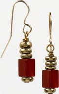 Egyptian  cylindrical earrings, Carnelian - Museum Shop Collection - Museum Company Photo