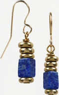 Egyptian  cylindrical earrings, Lapis - Museum Shop Collection - Museum Company Photo