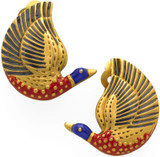 Egyptian Bird clip earrings - Museum Shop Collection - Museum Company Photo