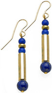Egyptian earrings with Lapis - Museum Shop Collection - Museum Company Photo