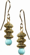 Egyptian earrings with Turquoise - Museum Shop Collection - Museum Company Photo