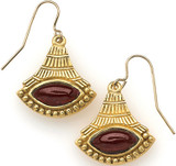 Egyptian Lotus earrings, Garnet - Museum Shop Collection - Museum Company Photo