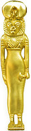 """Egyptian Sakhmet - Lioness head pendant, 18"""" chain - Museum Shop Collection - Museum Company Photo"""