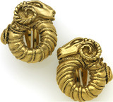 Ram clip earrings - Museum Shop Collection - Museum Company Photo