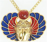 Scarab Amulet pin/pendant, Carnelian - Museum Shop Collection - Museum Company Photo