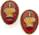 Royal crown clip earrings - Museum Shop Collection - Museum Company Photo