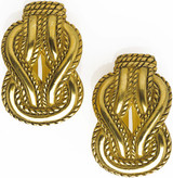 Greek Love knot clip earrings - Museum Shop Collection - Museum Company Photo