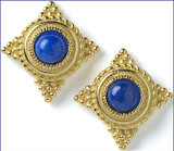 Roman grain earrings, Lapis - Museum Shop Collection - Museum Company Photo