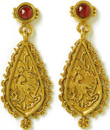 Indian earrings, garnet - Museum Shop Collection - Museum Company Photo