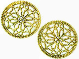 Filigree rosette post earrings - Museum Shop Collection - Museum Company Photo