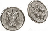 Janus double headed coin  post earrings - Museum Shop Collection - Museum Company Photo