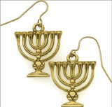 Menorah earrings - Museum Shop Collection - Museum Company Photo