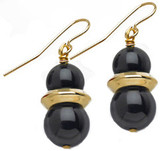 Egyptian Black Onyx earrings - Museum Shop Collection - Museum Company Photo