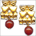Pre Columbian Peruvian earrings with Carnelian - Museum Shop Collection - Museum Company Photo