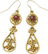 Grape earrings with Garnet cabochons - Museum Shop Collection - Museum Company Photo