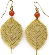 Leaf earrings with carnelian beads - Museum Shop Collection - Museum Company Photo