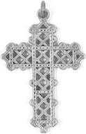 "Filigree ornate cross pendant, 16"" chain - Museum Shop Collection - Museum Company Photo"