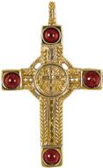 Garnet filigree cross pendant on chain - Museum Shop Collection - Museum Company Photo