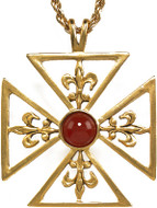 "Large Fleur-de-Lys cross pendant, 18"" chain - Museum Shop Collection - Museum Company Photo"