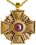 Russian Cross pendant, Garnet - Museum Shop Collection - Museum Company Photo
