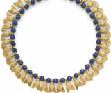 "16"" Egyptian FLY necklace with Lapis - Museum Shop Collection - Museum Company Photo"