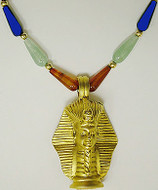 """16"""" Multi-color Egyptian necklace, King Tut mask center - Museum Shop Collection - Museum Company Photo"""