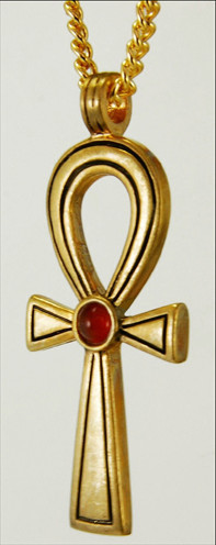 Egyptian ankh pendant with carnelian museum shop collection aloadofball Images