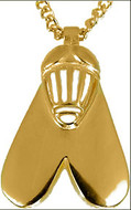 """Egyptian Fly pendant on 16"""" gold-plated chain - Museum Shop Collection - Museum Company Photo"""