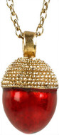 Acorn egg pendant, red - Museum Shop Collection - Museum Company Photo