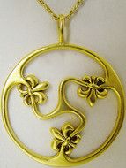 "Fleur-de-Lys pendant on 16"" chain - Museum Shop Collection - Museum Company Photo"