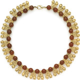 """Greek - 16"""" Necklace of pomegranate motifs and carnelian - Museum Shop Collection - Museum Company Photo"""