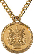 Janus pendant, two sided charm - Museum Shop Collection - Museum Company Photo